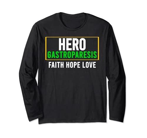 Camisa de conciencia gastroparesia - Héroe de conciencia de la gastroparesia Manga Larga
