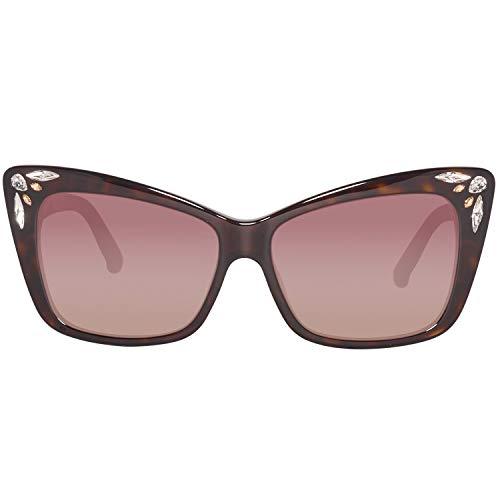 Swarovski Sunglasses Sk0103 52F 56 Occhiali da Sole, Marrone (Braun), Donna