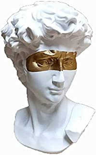 Toshionics Greek David Roman Style Resin Statue with Golden Strip Figurine Statues for Home Decor Sculpture for Living Roo...