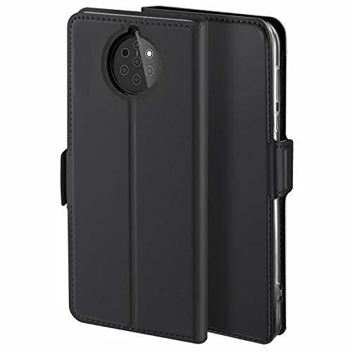HoneyCase für Handyhülle Nokia 9 PureView Hülle Premium Leder Flip Schutzhülle für Nokia 9 PureView Tasche, Schwarz