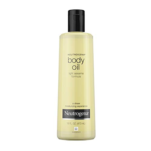 Neutrogena Lightweight Body Oil for Dry Skin, Sheer Body Moisturizer in Light Sesame Formula, 16 fl....