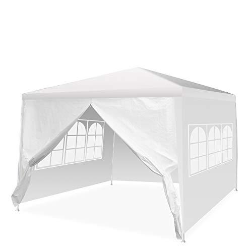 Pavillon 3x3 Wasserdicht, Pavillon mit Seitenteile, Draussen Partyzelt Gartenpavillon Event Shelter Strandüberdachung Festzelt - Abnehmbare Seiten - Transparente Fenster -...