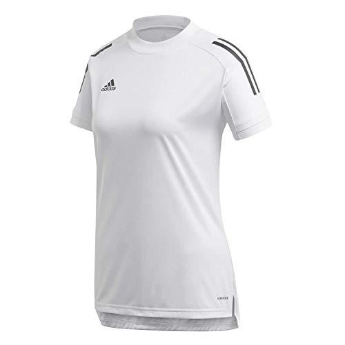 adidas Condivo 20 Training Jersey Camiseta Entrenamiento, Mujer, White/Black, M