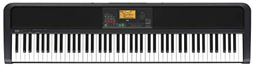 KORG Digitalpiano XE20, Digital Ensemble Piano, Keyboard mit 88 anschlagdynamischen Tasten, Digitalpiano mit Notenpult und Dämpferpedal, schwarz