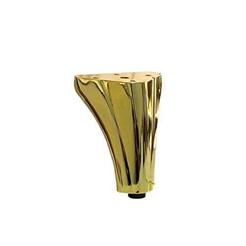 KISAD Patas de Muebles Patas de Mesa de Repuesto Muebles de Metal Gabinete de pie Piernas Sofá Soporte Soporte Hardware Pierna Tipo Tipo Mesa de Café Pie Foot Mesa de Alloy Piernas (Color : Gold)