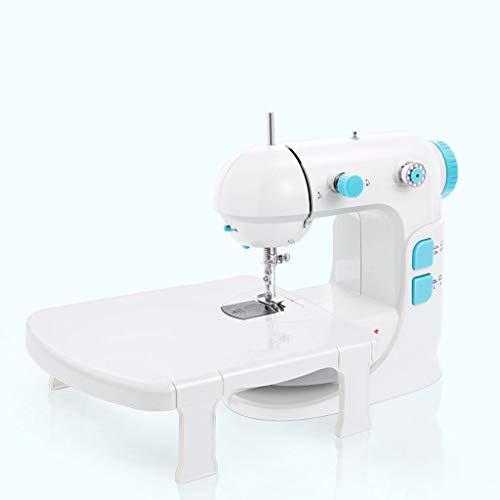 JIAAN Máquina de Coser electrónica,Mini Máquina de Coser Portátil con Accesorios,2 Control de Velocidad,Pedal de Pie Fácil de Llevar con Asa Sewing Machine Mini Sewing Machine