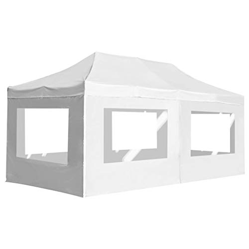 Professional party tent folding with walls aluminium alloy garden tent waterproof UV protection tent 6 x 3 m white