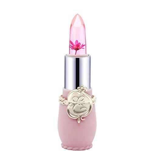 Honestyi-Rouge à lèvres Rouge à lèvres, Crystal Jelly Magic Change Couleur Lip Beauté Lumineuse Fleur (F)