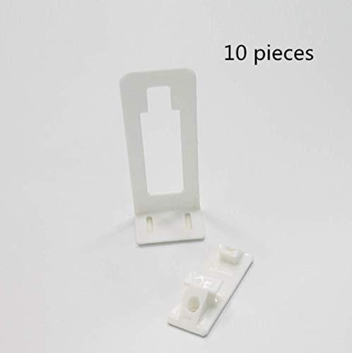 Veiligheidsslot, wit kinderveiligheidsslot, multifunctioneel om te voorkomen dat baby gewond raakt, geschikt voor laden, enkele open kasten Wit(10 stuks)