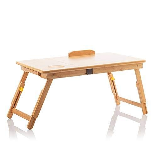 InnovaGoods Mesa Plegable Auxiliar de Bambú Lapwood, Madera, 53,5 x 21-27 x 34 cm. Medidas Aprox. Plegado: 53,5 x 4,5 x 34 cm