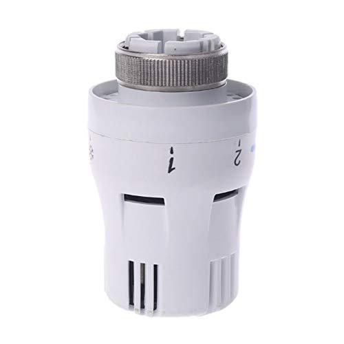 JGFJ Fontanería Termostático Válvula de Radiador Sistema de Calefacción Válvulas de Control de Temperatura Neumáticas Controlador remoto Válvula de radiador Cabeza Inicio
