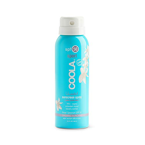 COOLA Organic Sport Sunscreen & Sunblock Body Lotion, Skin Care for Daily Protection, Broad Spectrum SPF 50, Reef Safe, Fragrance Free, 3 Fl Oz