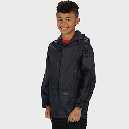 Regatta Waterproof Stormbreak Kids' Outdoor Hooded Jacket available in Navy - 7-8 Years