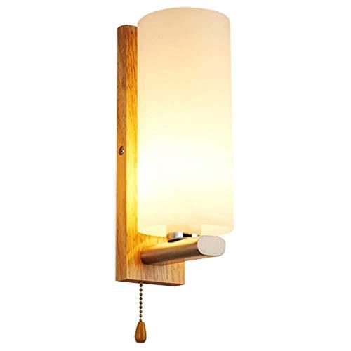 Wandleuchte Wandleuchte Japanische Massivholz Moderne E27 Schlafzimmer Hohe Helligkeit Glas Wandleuchte Laterne Hotel Tea House Dekorative Beleuchtung