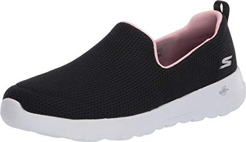 Skechers Go Walk Joy, Zapatillas para Mujer, Negro (Black Textile/Pink Trim Bkpk), 38 EU