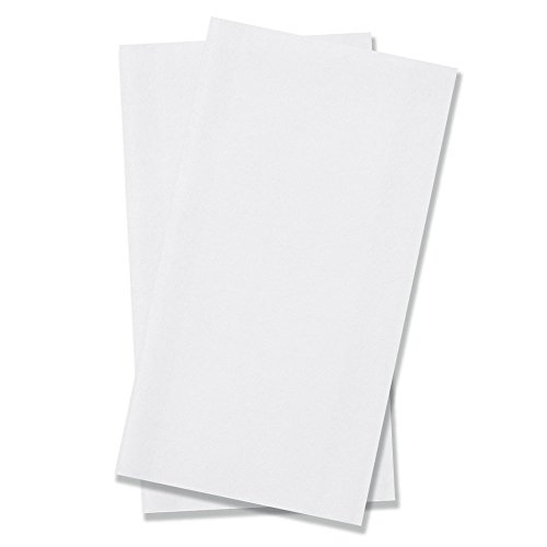 BloominGoods Disposable Bathroom Napkins | Single-Use Linen-Feel Guest Towels | Cloth-Like Hand Tissue Paper, White, 12