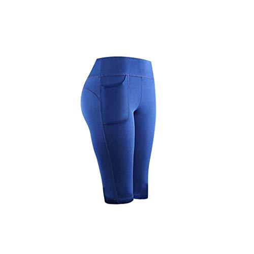 Cinnamou Femmes Stretch Yoga Leggings Fitness Running Gym Sports Poches Active Pants Legging Court Tenue Sport Vêtement