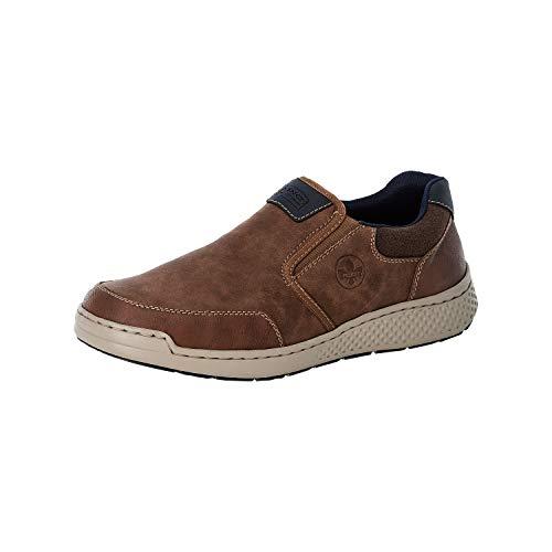 Rieker Herren Low-Top Sneaker B5860, Männer Sneaker,straßenschuhe,Strassenschuhe,Sportschuhe,Freizeitschuhe,Turnschuhe,braun (25),44 EU / 9.5 UK