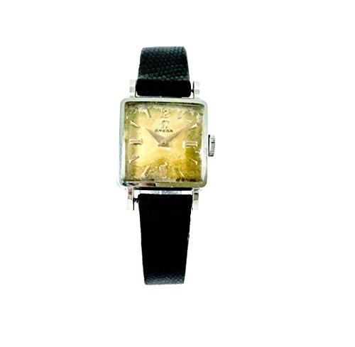Reloj Vintage Omega Mujer Acero Mecánico Original caja perfecto