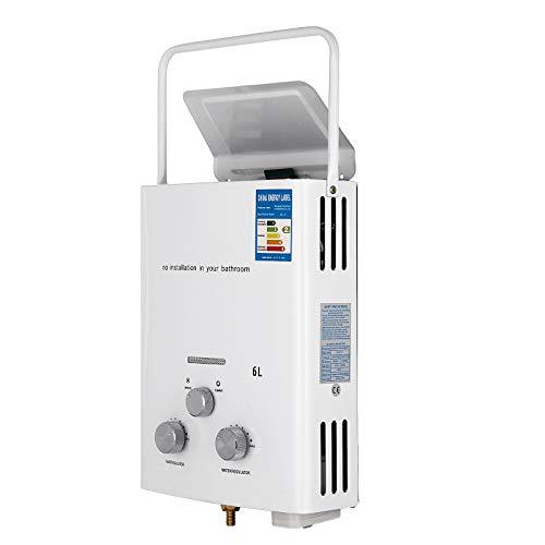 OldFe 6L Scaldabagno GPL Scaldabagno A Gas Metano Esterno 6L LPG Con Digitale LCD 12KW Scaldabagno Automatico E Rapidamente