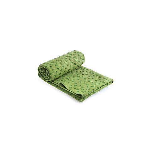 183cm * 61cm 72''x24 '' Manta de la toalla de la cubierta de la estera de yoga antideslizante con la bolsa de la toalla del deporte del deporte del deporte Pilates entrenamiento anti patineto(green)