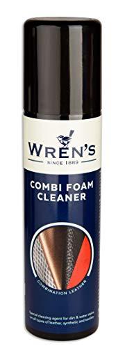Ultieme schuim schoonmaakmiddel, vlekken verwijderaar voor leer textiel canvas schoenen laarzen handtassen accessoires, Wren's combi schuim schoonmaker, 150 ml – 5.07 fl. oz.