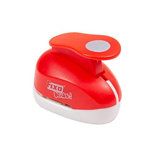 Fixo Kids 62651. Perforadora Especial Goma EVA con Forma de Círculo. 2,5cm. Tamaño Mediano, Rojo
