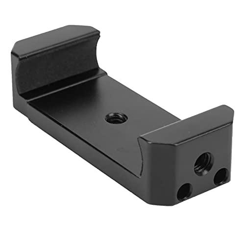 Abrazadera para teléfono móvil, Abrazadera Universal Totalmente metálica para teléfono móvil con Orificios de Rosca de 1/4 de Pulgada Adaptador de Montaje en trípode Ancho Ajustable