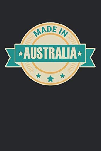 Fabriqué en Australie: Agenda, carnet, livre 100 pages pointillées en couverture souple pour tout ce que vous voulez écrire et ne pas oublier.