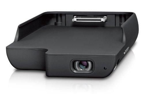 Odys Pico 2-in-1 Projektor (Projektionsgröße 25,4 ~ 152 [cm], bis zu 20 Lumen, integr. Lautsprecher) & Batterie Ladeschale für iPhone 4/4S