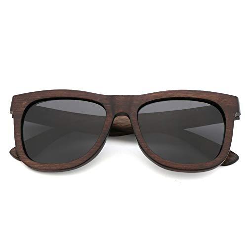 GTYHJUIK Retro Houten gepolariseerde zonnebril Persoonlijkheid Paar schaduw Anti Glare Mirror Eenvoudige Anti-UV Bril Voor mannen en vrouwen