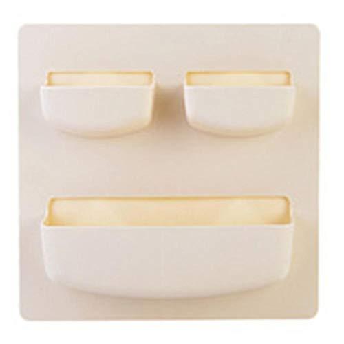 Oinna - 1 estante de pared para baño, estante de pared perforado gratuito para jabones, cepillos y accesorios de lavavajillas