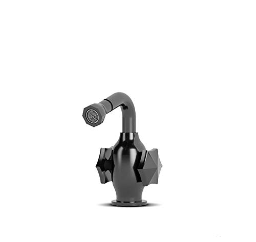 New JEE-O BLOOM BIDET MIXER | Top mounted bidet faucet with two handle mixer in gun metal PVD coated...