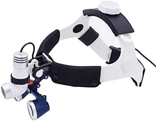 RUXMY Lupa de Vidrio Lupa de Vidrio Lupa Digital de Mano, Lupas médicas quirúrgicas Profesionales Lupa Dental Binocular 2.5X, con Faro Lupa quirúrgica Pasatiempos, Lectura, Lupa de joyería