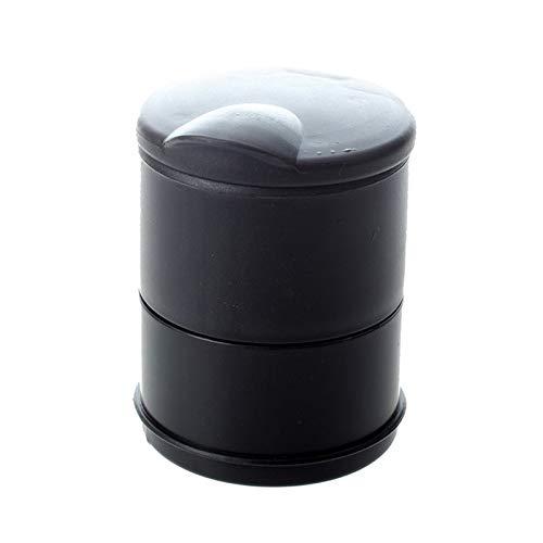GLADMIN Bandejas de Cenizas Cenicero del Coche del Coche para el Soporte de la Taza Coche Universal con lámpara LED (Color : Black)