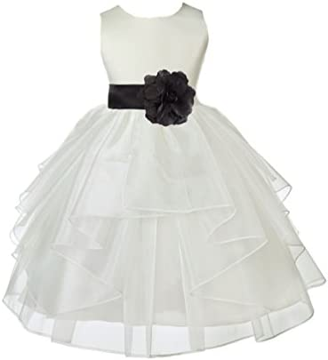 Ivory Formal Girl Dress Blush Pink Midnight Pigeon Blue Tiffany Cadbury R13S 2 product image