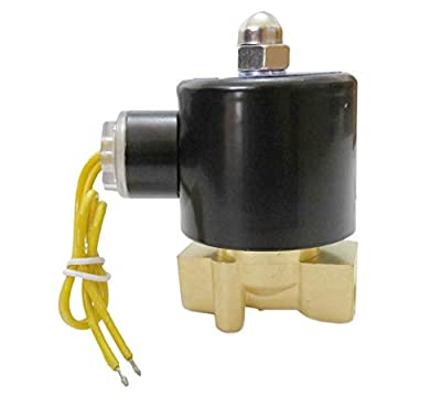3/8 Inch Solenoid Valve 110V 115V 120V DC Brass Electric Air Water Gas Diesel Normally Closed NPT from XS
