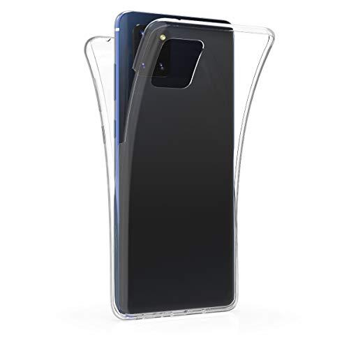 kwmobile Hülle kompatibel mit Samsung Galaxy Note 10 Lite - Silikon Komplettschutz Handy Cover Case Schutzhülle Transparent