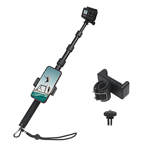 HSU Palo selfie extensible para GoPro Hero 9/8/7 y otras cámaras de acción (112 cm)