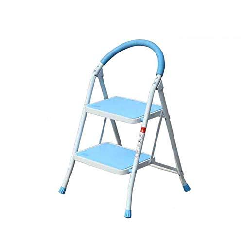 NYDZDM 2/3 Stap Vouwen Ladder Kruk Stap Kruk, Zwaar Stoer IJzer, Draagbaar Met Anti-Slip Mat