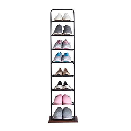 Zapatero Independiente De Entrada Multiuso Estantería para Zapatos con 8 Niveles Estantes Ajustable Soporte Organizador De Almacenamiento,Blanco