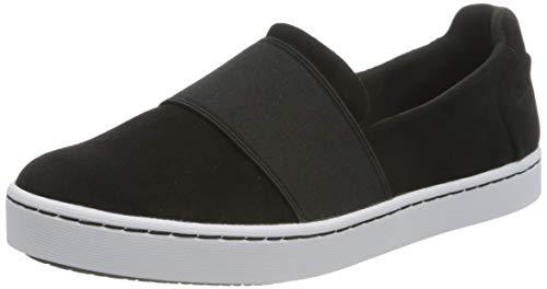 Clarks Damen Pawley Wes Slipper Sneaker, Black Sde, 39 EU