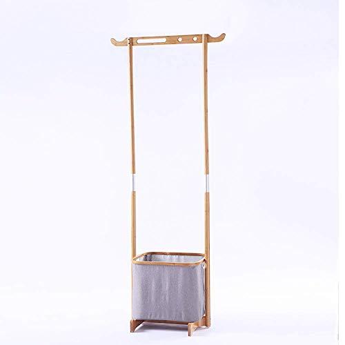PYROJEWEL Multifunción cremallera doble zapata polar capa de bambú estante - con 1 bolsa de almacenamiento, de múltiples funciones estante de almacenamiento dormitorio esquina percha de ropa de almace