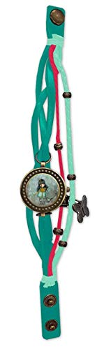 Gorjuss W-08-G Reloj de Pulsera Vintage I Stole Your Heart