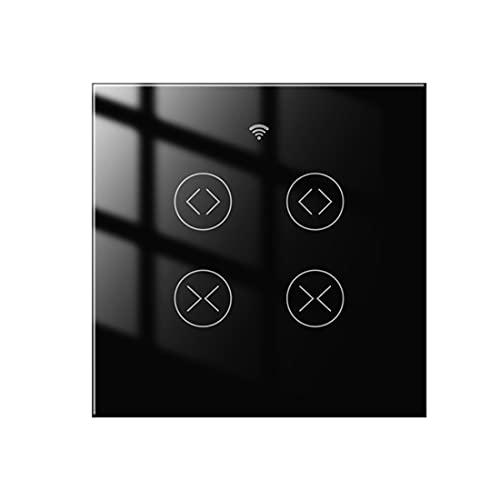 Interruptor de Cortina Inteligente Tuya Wifi Interruptor Doble Cortina de 2 Bandas Compatible con Alexa Y Google Asistente para Persianas Persianas Enrollables Persiana Enrollable
