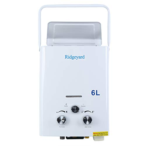 Euroeshop 6L LPG Propane Gas Tankless Instant Hot Water Heater Boiler Brushed with Shower Head by Euroeshop