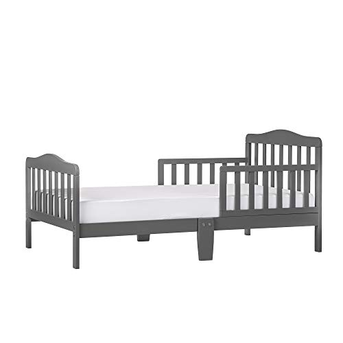 Dream On Me Classic Design Toddler Bed in Steel Grey, Greenguard Gold Certified