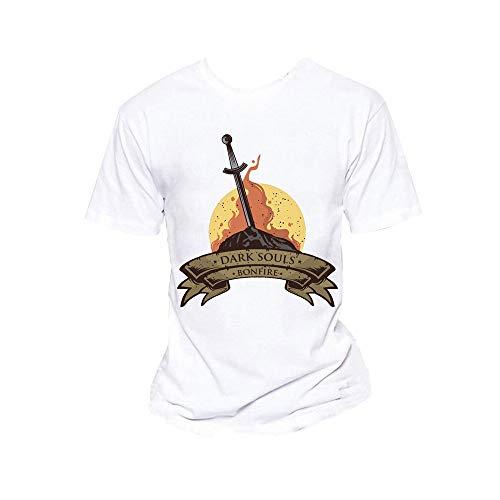 Dark Souls Camiseta Elegante Temperamento de Manga Corta cómoda Camiseta (Color : A09, Size : XL)