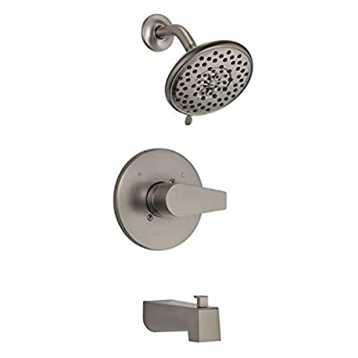 Peerless PTT14419-BN Xander Tub Shower Trim Only (Valve Sold Separately), Brushed Nickel