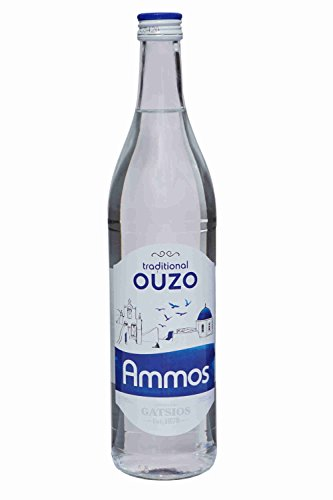 Ouzo Ammos 700ml 37,5% Gatsios griechischer milder Uso Ouxo Tresterbrand Trester Schnaps